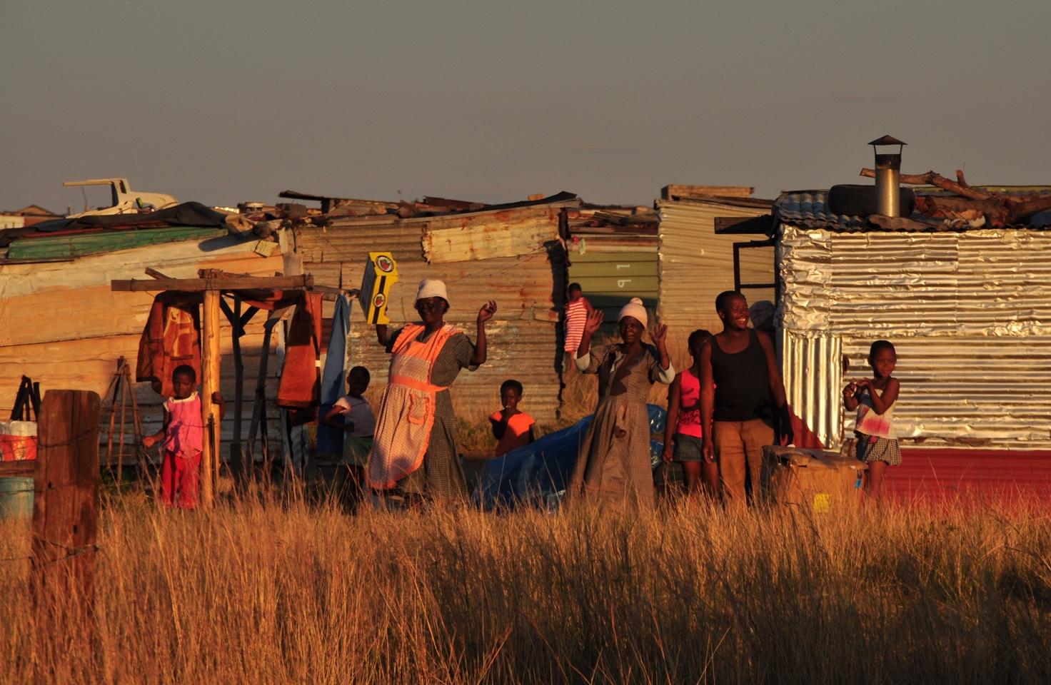 zuid-afrikaans dorpbewoners