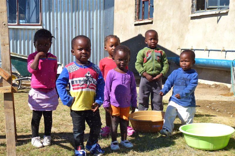 Kinderen uit de creche