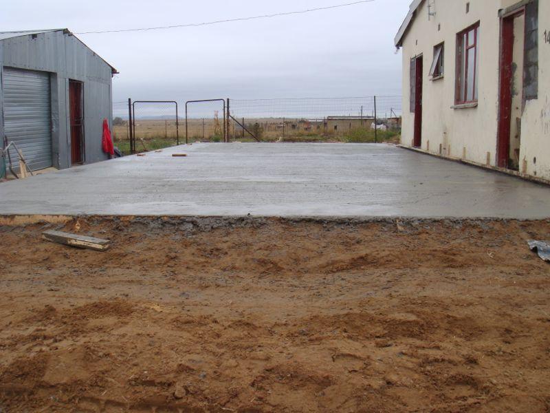 Hierop wordt de zaal van het drop-in centrum gebouwd.