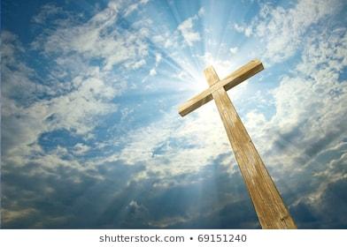 kruis tegen blauwe hemel